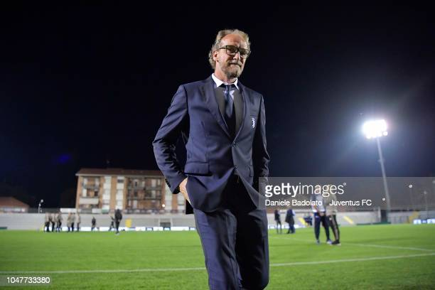 Juventus coach Mauro Zironelli at Stadio Giuseppe Moccagatta on October 8 2018 in Alessandria Italy