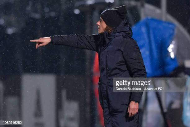 Juventus coach Rita Guarino during the match between Juventus Women and ASD Orobica on October 31 2018 in Vinovo Italy