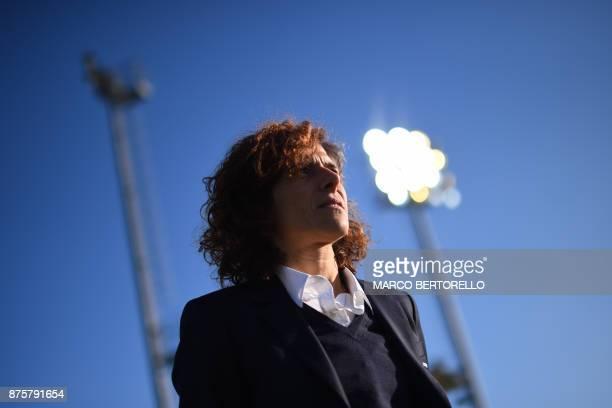 Juventus' coach Rita Guarino looks on during the Women's Italian football match between Juventus and Sassuolo at Juventus Center on November 18 2017...