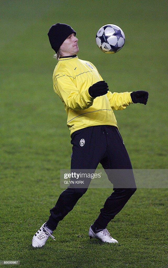Juventus Czech midfielder Pavel Nedved p : News Photo