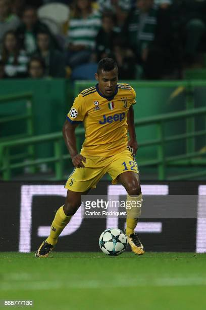 Juventus defender Alex Sandro from Brazil during the UEFA Champions League group D match between Sporting CP and Juventus FC at Estadio Jose Alvalade...