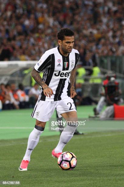 Juventus defender Dani Alves in action during the Coppa Italia final football match JUVENTUS LAZIO on at the Stadio Olimpico in Rome Italy