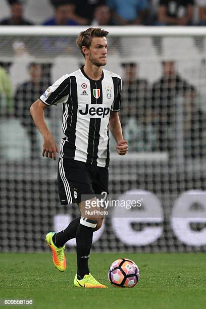 Juventus defender Daniele Rugani in action during the Serie A football match n5 JUVENTUS CAGLIARI on at the Juventus Stadium in Turin Italy