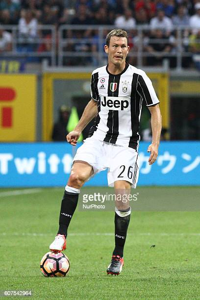 Juventus defender Stephan Lichtsteiner in action during the Serie A football match n4 INTER JUVENTUS on at the Stadio Giuseppe Meazza in Milan Italy