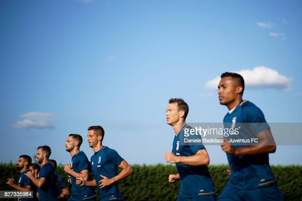 Juventus during a training session on August 7 2017 in Vinovo Italy