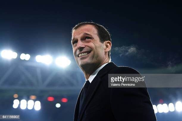 Juventus FC ihead coach Massimiliano Allegri looks on during the Serie A match between Juventus FC and FC Internazionale at Juventus Stadium on...
