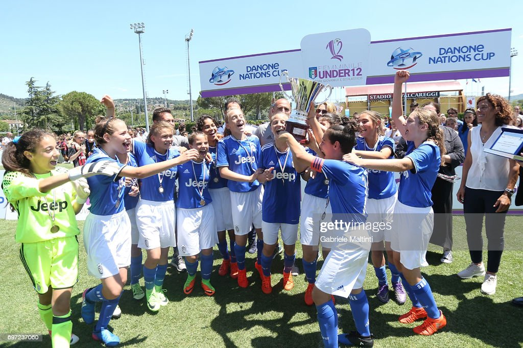 Juventus FC under 12 celebrates the victory during the Daone Cup at Coverciano on June 18, 2017 in Florence, Italy.