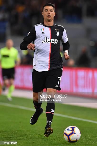 Juventus football player Cristiano Ronaldo during the match RomaJuventus at the Olimpic Stadium Rome May 12th 2019