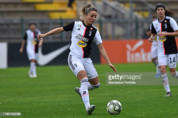 Juventus football player Martina Rosucci during the match Roma-Juventus in the Tre Fontane stadium on November 24, 2019 in Rome, Italy.