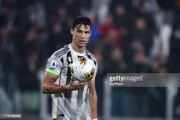 Juventus forward Cristiano Ronaldo looks on during the Serie A football match n10 JUVENTUS GENOA on October 30 2019 at the Allianz Stadium in Turin...