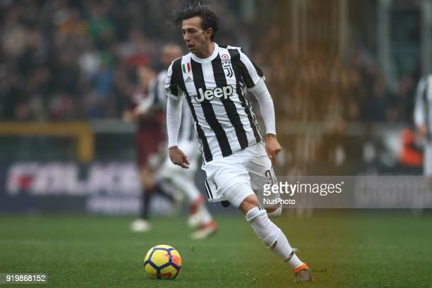 Juventus forward Federico Bernardeschi in action during the Serie A football match n25 TORINO JUVENTUS on at the Stadio Olimpico Grande Torino in...