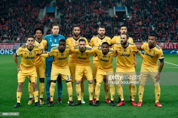 Juventus' forward from Colombia Juan Cuadrado goalkeeper from Poland Wojciech Szczsny defender from Morocco Medhi Benatia defender from Italy Andrea...
