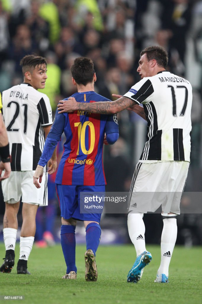 Juventus v FC Barcelona - UEFA Champions League Quarter Final: First Leg : Foto di attualità