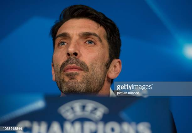 Juventus' goalkeeper Gianluigi Buffon attends a press conference of Juventus FC at the Allianz Arena in Munich Germany 15 March 2016 Juventus FC will...