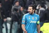 juventus goalkeeper gianluigi buffon during uefa