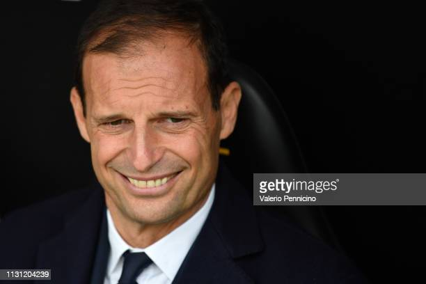 Juventus head coach Massimiliano Allegri looks on during the Serie A match between Genoa CFC and Juventus at Stadio Luigi Ferraris on March 17 2019...