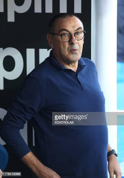STADIUM LECCE PUGLIA ITALY Juventus' Italian coach Maurizio Sarri looks on during the Italian Serie A football match US Lecce vs FC Juventus on...