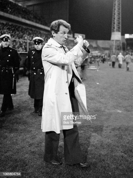 Juventus manager Giovanni Trapattoni during the European Cup Semi Final 2nd Leg between Club Brugge and Juventus at the Jan Breydel Stadium on April...
