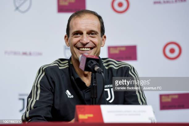 Juventus manager Massimiliano Allegri during the press conference before the MLS game between MLS AllStars and Juventus on July 30 2018 in Atlanta...