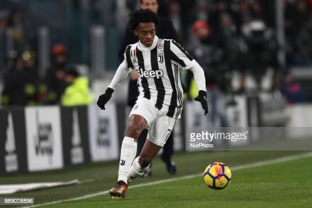 Juventus midfielder Juan Cuadrado in action during the Serie A football match n16 JUVENTUS INTER on 9 December 2017 at the Allianz Stadium in Turin...