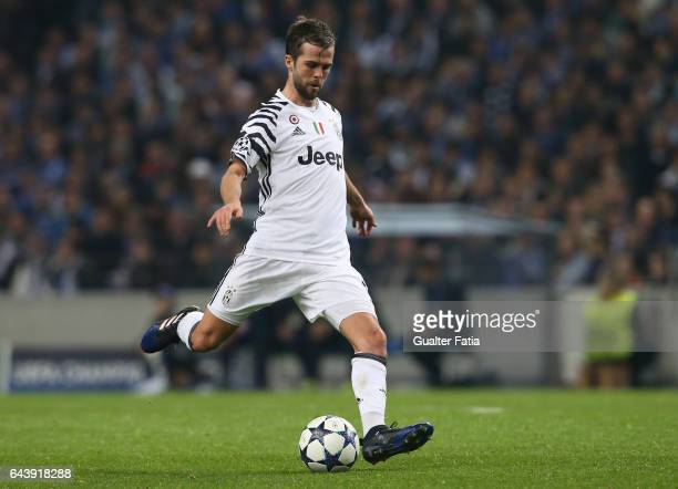 Juventus midfielder Miralem Panic from Bosnia in action during the UEFA Champions League Round of 16 First Leg match between FC Porto and Juventus at...