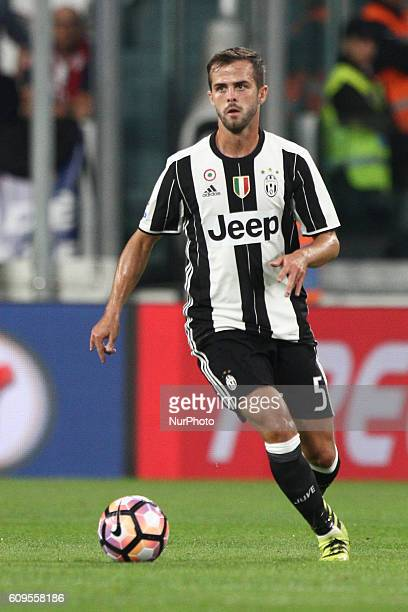Juventus midfielder Miralem Pjanic in action during the Serie A football match n5 JUVENTUS CAGLIARI on at the Juventus Stadium in Turin Italy