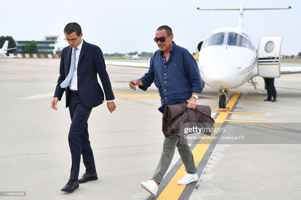 Juventus New Coach Maurizio Sarri Arrives In Turin : News Photo