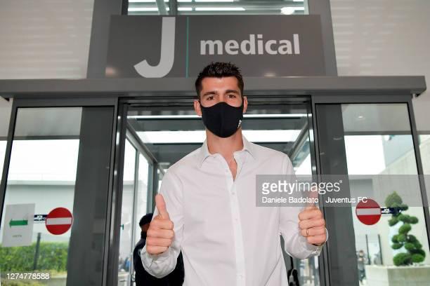 Juventus New Signing Alvaro Morata Medical Tests at Jmedical on September 22, 2020 in Turin, Italy.