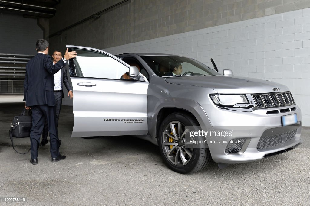 Juventus new signing Cristiano Ronaldo arrives at JMedical on July 16, 2018 in Turin, Italy.