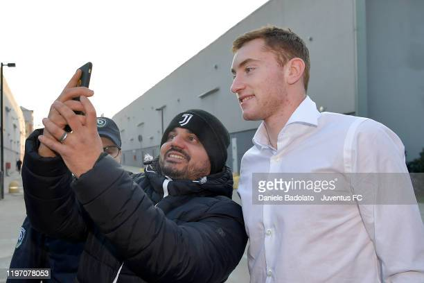 Juventus new signing Dejan Kulusevski arrives for medical tests at JMedical on January 02 2020 in Turin Italy