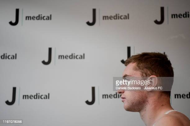 Juventus new signing Dejan Kulusevski participates in medical tests at JMedical on January 02 2020 in Turin Italy