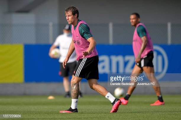 Juventus player Aaron Ramsey during a training session at JTC on May 26 2020 in Turin Italy