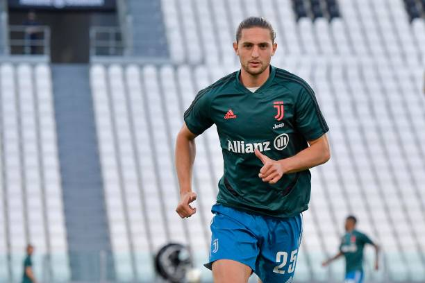 Juventus player Adrien Rabiot during a training session at Allianz Stadium on June 05 2020 in Turin Italy