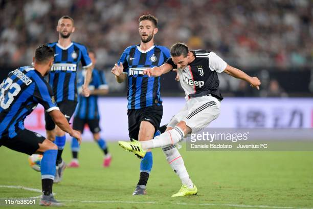 Juventus player Adrien Rabiot during the International Champions Cup match between Juventus and FC Internazionale at the Nanjing Olympic Center...