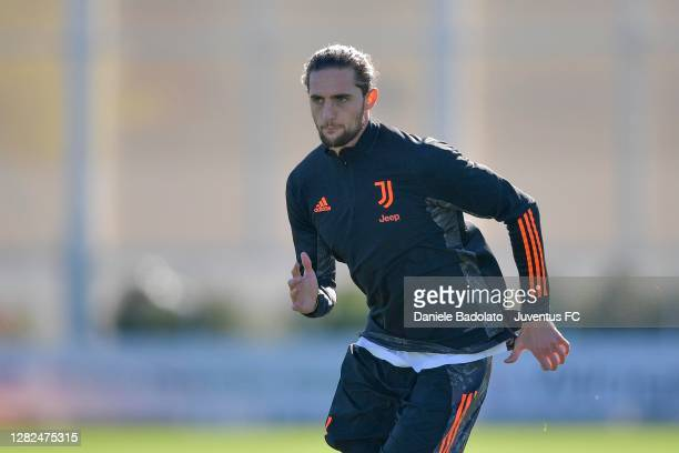 Juventus player Adrien Rabiot during the UEFA Champions League training session at JTC on October 27 2020 in Turin Italy