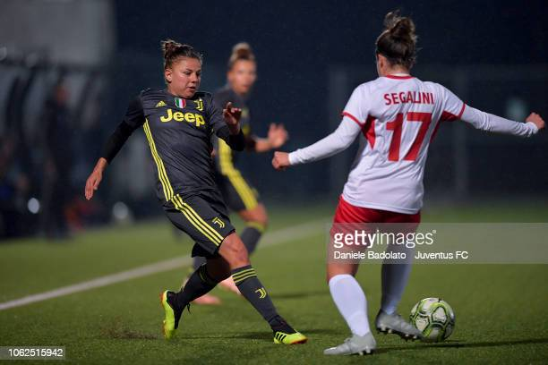 Juventus player Aleksandra Sikora during the match between Juventus Women and ASD Orobica on October 31 2018 in Vinovo Italy