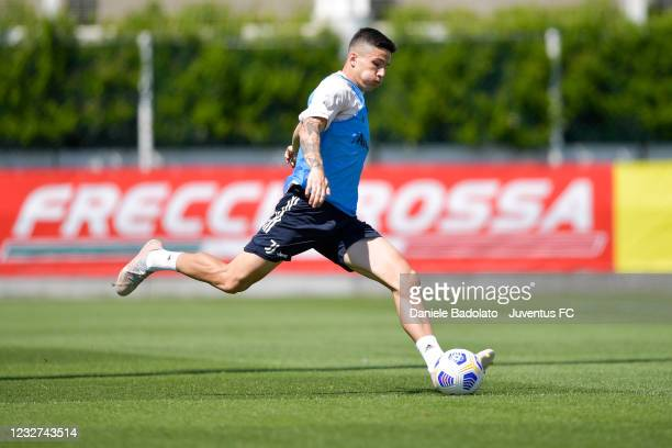 Juventus player Alessandro Di Pardo during a training session at JTC on May 07, 2021 in Turin, Italy.