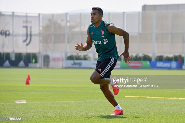 Juventus player Alex Sandro during a training session at JTC on May 28 2020 in Turin Italy