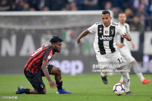 Juventus player Alex Sandro during the Serie A match between Juventus and AC Milan on April 6 2019 in Turin Italy