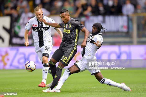 Juventus player Alex Sandro during the serie A match between Parma Calcio and Juventus at Stadio Ennio Tardini on September 1 2018 in Parma Italy