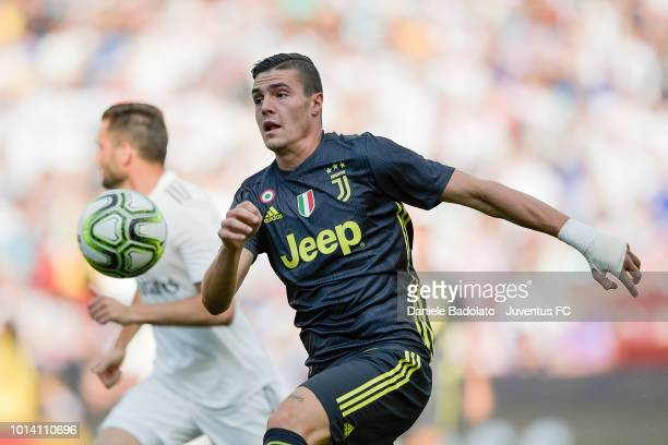 Juventus player Andrea Favilli during the Real Madrid v Juventus International Champions Cup 2018 match at FedExField on August 4 2018 in Landover...