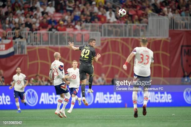 Juventus player Andrea Favilli in action during 2018 MLS AllStar Game Juventus v MLS AllStars at MercedesBenz Stadium on August 1 2018 in Atlanta...