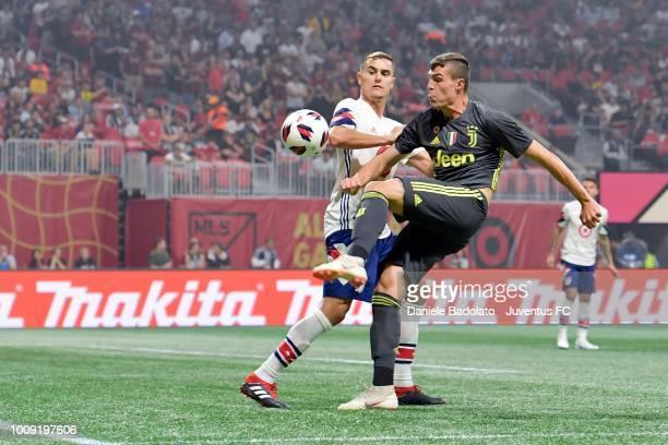 Juventus player Andrea Favilli in action during the 2018 MLS AllStar Game Juventus v MLS AllStars at MercedesBenz Stadium on August 1 2018 in Atlanta...