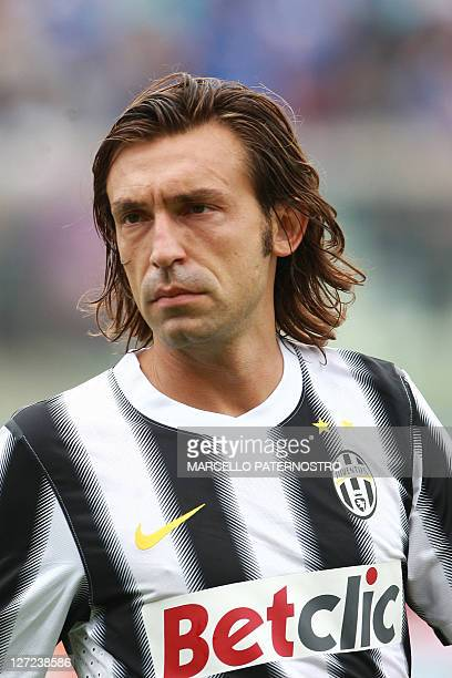 Juventus player Andrea Pirlo in Catania on September 25 during the Serie A match against Catania AFP PHOTO / MARCELLO PATERNOSTRO