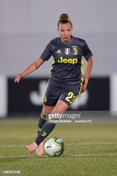 Juventus player Arianna Caruso during the match between Juventus Women and ASD Orobica on October 31 2018 in Vinovo Italy