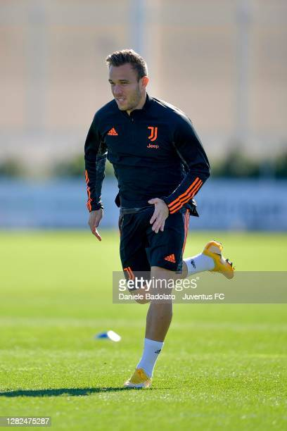 Juventus player Arthur during the UEFA Champions League training session at JTC on October 27 2020 in Turin Italy