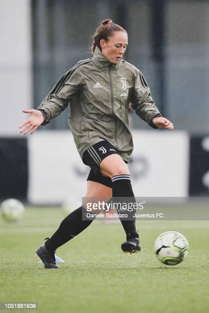 Juventus player Ashley Nick during a Juventus Women training session at Juventus Center Vinovo on October 11 2018 in Vinovo Italy