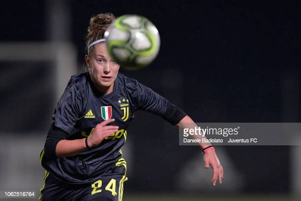 Juventus player Asia Bragonzi during the match between Juventus Women and ASD Orobica on October 31 2018 in Vinovo Italy