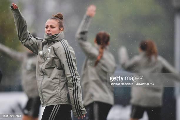 Juventus player Aurora Galli during a Juventus Women training session at Juventus Center Vinovo on October 11 2018 in Vinovo Italy