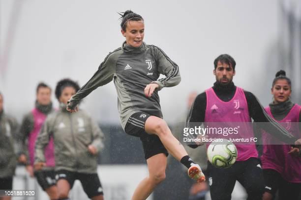 Juventus player Barbara Bonansea during a Juventus Women training session at Juventus Center Vinovo on October 11 2018 in Vinovo Italy